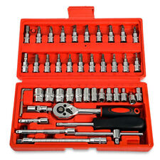 46Pcs Tool Set Car Repair Kit Case Home hand Tools Piece Box Socket Set Ratchet