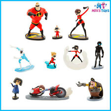 Disney The Incredibles 2 Deluxe 10 piece Figure Play Set cake topper