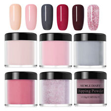 6 Boxes NICOLE DIARY 10ml Nail Art Dipping Powder System  Dust Kit