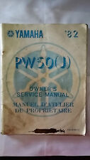 Yamaha PW50J PW 50 J Owners and Service Manual 1982