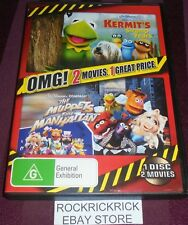 KERMIT'S SWAMP YEARS + THE MUPPETS TAKE MANHATTAN -2 MOVIES 1 DISC DVD- REGION 4