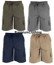NEW Duke D555 Mens Cargo Shorts Designer Elasticated Waist Casual Combats M-6XL