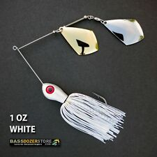 Bassdozer spinnerbaits TROPHY ROYAL 1 oz WHITE spinner bait fishing lures