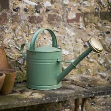 Garden Trading Outdoor 5L Watering Can with Rose Head in Green Steel