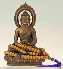 Halsschmuck Amethyst Mala Nepalbuddha (Sandelholz Duplikat) Nepal Rosario 7d