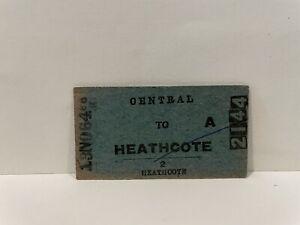 NSWGR Railway Ticket Central to Heathcote 1964