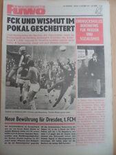 FUWO 42 - 19.10. 1976 * Pokal FDGB 2.Rd Babelsberg-HFC 0:1 Gröditz-Dresden 2:3