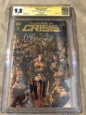 Heroes in Crisis 1 CGC 9.8 2XSS DC Boutique Gold Foil Batman Justice League Film