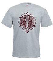 T-shirt Maglietta J1930 Lancia di Odino con Animali Sacri e Rune