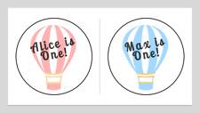 Personalised 1st Birthday Boy Girl Birthday Sticker Thank you Sweet Cones Gift