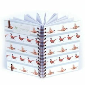Spiral Bound Hardback Notebook - Flying Pheasants - Lined A5 Paper - Wrendale
