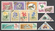 R9920 - MONGOLIA 1960 - LOTTO 13 TEMATICI DIFFERENTI DEL PERIODO - VEDI FOTO