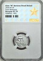 2020 FIRST W REVERSE PROOF NICKEL, NGC REV PF70, FIRST RELEASES, STAR LABEL