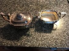 GEORGE III ROBERT & SAMUEL HENNELL ANTIQUE STERLING TEAPOT AND SUGAR BOWL!