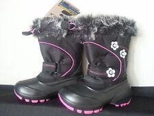 Kamik Bellissimo Child US 9 Black/Pink Snow Boot NEW