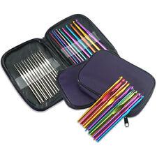 22pcs Multi Colour Alumium Crochet Hooks Knitting Needles Set Gift Present Mum