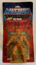 Masters of the Universe HE-MAN figure unused MOC 1983 Mattel MOTU