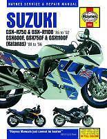 Haynes Manual for SUZUKI GSXR GSXR750 & GSXR1100 models 1985 to 1992