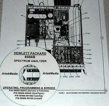 HP 8566B SERVICE & OPERATION  MANUALS (GOOD SCHEMATICS)