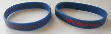 MERCHANT NAVY SILICONE WRISTBAND - DEBOSSED OR PRINTED