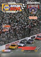 1998 9/27 43rd Annual NAPA AUTOCARE 500 Official Program NASCAR 50th Annivers.