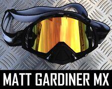 FIRE MIRROR LENS to fit OAKLEY MAYHEM MOTOCROSS MX GOGGLES tear off