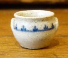 IGMA Artisan Jane Graber Miniature Stoneware Tiny Soup Bowl I: 1:12 Scale