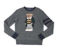 Polo Ralph Lauren Mens Sweater Gray Size XS Crewneck Bear Wool $398- #109