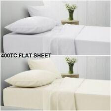 400TC FLAT SHEET 100% EGYPTIAN COTTON HOTEL QUALITY LUXURY TOP SHEETS ALL SIZES