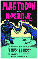 MASTODON | DINOSAUR JR 2018 Tour Ltd Ed RARE New Poster +FREE Metal Rock Poster!