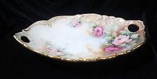 Vintage T & V (Tressemanes & Vogt) Limoges Porcelain Signed Handled Dish - 7 in