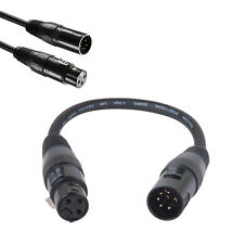XLR 5Pin Male to XLR 3Pin Female Adapter Audio Turnaround DMX Microphone Cable