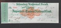 Stissing National Bank Pine Plains NY Used Check 1872