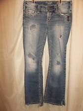 SILVER PIONEER Jeans Sz 28 x 31. Hot!! DESTROYED