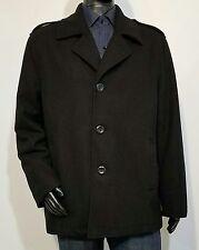 Men's Guess Wool Peacoat Coat Jacket Size XL Black