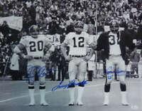 Terry Bradshaw Bleier & Harris Signed Pittsburgh Steelers 16x20 Photo JSA 10567