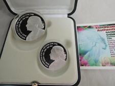2005 Israeli songwriter / composer NAOMI SHEMER PR+BU SILVER COINS + BOX + COA