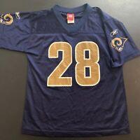 Marshall Faulk St Louis Rams Reebok NFL Jersey - Kids Youth Size Large (14/16)
