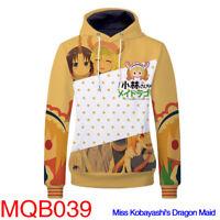 Anime Miss Kobayashi's Dragon Maid Hoodie Kamui Kanna Pullover Sweatshirt Coat