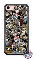 Halloween Chucky Kruger Alien Pin Head Collage Phone Case cover for iPhone etc.