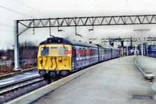 PHOTO  1987 CLASS 45 NO 45121NORTH END OF STAFFORD RAILWAY STATION ELECTRIC MULT