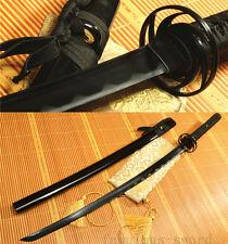 41' 1060 CARBON STEEL BLACK BLADE HAND  JAPANESE SAMURAI SWORD KATANA
