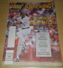 GARY SHEFFIELD 1989 MAY -  WHAT'S BREWING? MAGAZINE rookie milwaukee brewers