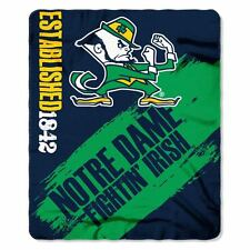 """University of Notre Dame College Team 50"""" x 60"""" Fleece Fabric Finished Throw"""