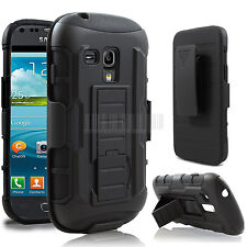 Rugged Armor Hybrid Holster Stand Case Cover For Samsung Galaxy S3 Mini i8190