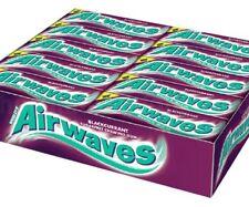 Full Box of 30 Wrigley's Chewing Gum Airwaves Sugar Free Blackcurrant Free P&P