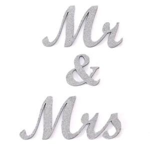 Mr. Mrs. Wedding Sign Decoration - Colors: Silver - Gold - White - Black