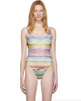 Missoni Mare Multicolor Zig Zag One-Piece Swimsuit Women's Size 10 US 67621