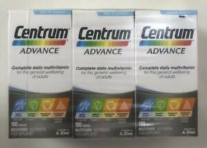 3 x Centrum Advance Multivitamin Tablets - Pack of 3 x 100...!!!