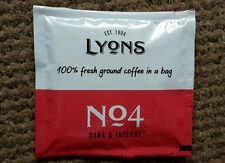 Lyons No4 Dark & Intense,Coffee x 140 Individual bags.Filter coffee in a bag!